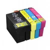 Full Ink 1Set 4 PCS Ink Cartridge For Epson T252 T2521 XL Printer For Epson WF