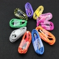 10pcs Colorfulround Braided Fabric Micro USB Cord Data & Sync Charger Cable For Samsung For LG Phone 2M 10 Colors Hight Quality