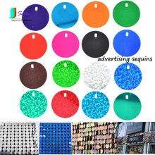 Sprzedaż hurtowa DIY dekoracja wykonana ręcznie, zewnętrzne cekiny Outadvertising, okrągłe 3cm jednokolorowe, laserowe cekiny reklamowe S0681L