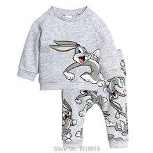 Nouveau 2017 Marque Qualité 100% Terry Coton Bébé Fille Vêtements ensembles Vêtements Pour Enfants Costumes Manches Longues Bebe Enfants Vêtements Ensemble filles