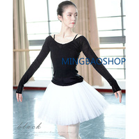 2019 Girls dance clothes Long Sleeve Ballet Dance Tops Autumn Winter Warm Slim Gymnastic Clothing for Women bailarinas mujer