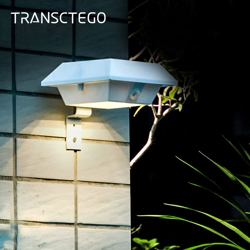 4 Led Solar Gutter Lights Outdoor Waterproof Security Wall Light Sensor With Bracket For Garden Fence Garage Stairs Solar Lamp fghgf 2018 light sensor 6 led wall light outdoor garden fence ip55 waterproof lamp automatically light gutter fence warm white