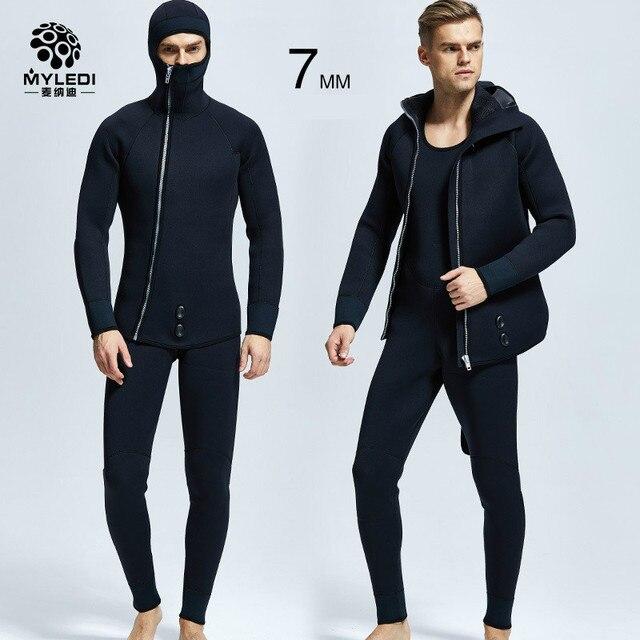 20ec9846fab84 5MM Men s Diving Suit Two Pieces Of Neoprene Nylon Scuba Diving Suit  Waterproof Warm Diving Suit MY088 Size S-XXL