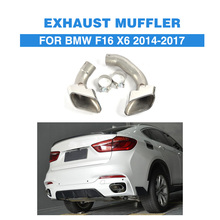 Stainless steel Auto Exhaust Tips Muffler Pipes Tips For BMW F16 X6 2014 2017 Car Accessories