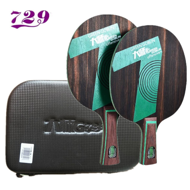 Friendship 729 Master series table tennis racket Green goblin 5/7 Ebony ebony 5 7 OFFENSIVE attack with free case
