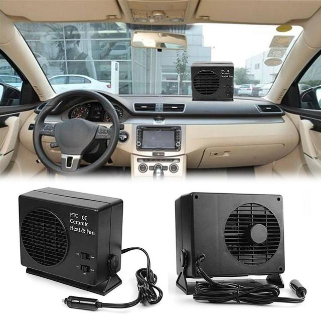 2 In 1 Universal Dc12v Electric Car Suv Vehicles Portable Ceramic Heating Cooling Dryer Heater