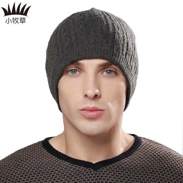 Popular Jacquard Men Winter Wool Skullies Beanies Men Outdoor Street Dancing Caps Men Skateboard Knitted Hats Head Cover Caps
