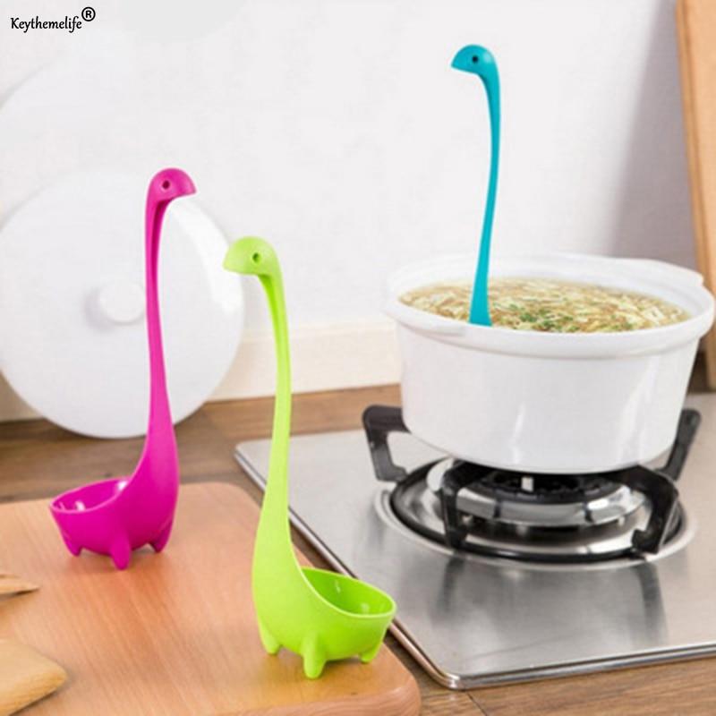 קריקטורה מטבח פלסטיק כפית מרק ארוך טיפול כף כלי שולחן כלי אוכל כלי מטבח