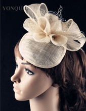 15 colors enchanting sinamay material fascinator base headpiece event hair accessories bridal hat suit for all