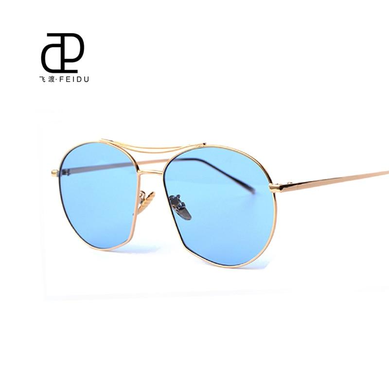FEIDU New Arrival Sun Glasses Summer Luxury Brand Designer Sunglasses Metal Temples Gradient Ladies Driving Beach Sunglasses