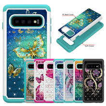 Fashion Case sFor Samsung Galaxy S10 Plus S10E Soft Silicone + PC shockproof Cover For S 10