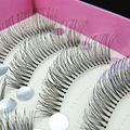50Pair Reusable Handmade False Eyelashes And Popular Messy Transparent Stem Stage Makeup Fake Lashes Set For Eyelashes