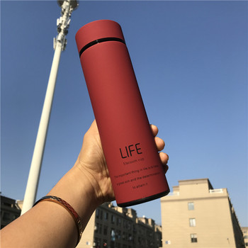 500ML Hot Water Thermos Tea Vacuum Flask With Filter Stainless Steel 304 Sport Thermal Cup Coffee Mug Tea Bottle Office Business 450ml hot water thermos tea vacuum flask with filter stainless steel 304 sport thermal cup coffee mug tea bottle for winter