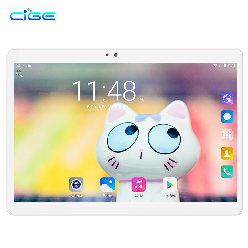 Free Shipping Tablet PC 10.1 inch 3G Phone Tablets PCs Ocat Core 4GB RAM 32GB/64GB ROM Dual SIM Card Android 7.0 tablets PCs 10 cige a6510 10 1 inch android 6 0 tablet pc octa core 4gb ram 32gb 64gb rom gps 1280 800 ips 3g tablets 10 phone call dual sim