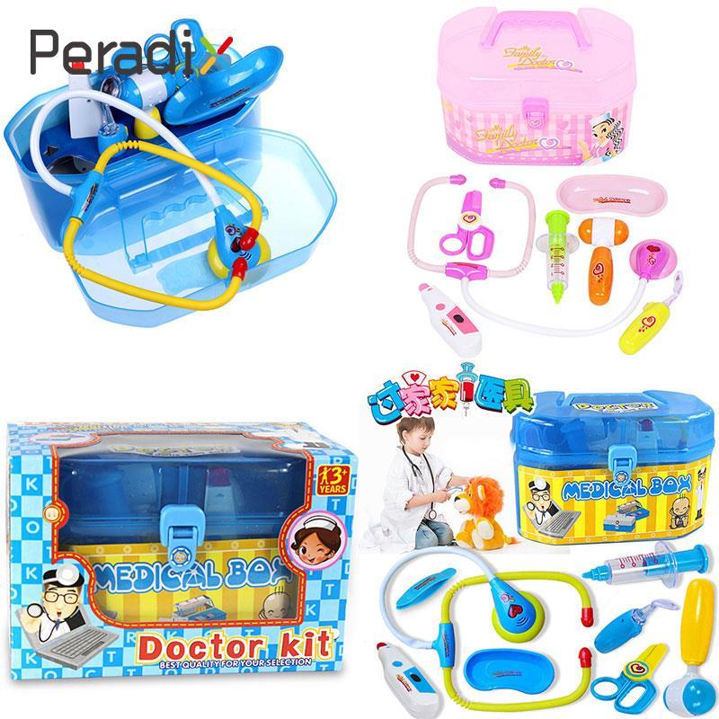Simulation Medical Box Doctor Nurse Kit Set Interactive Toy For Children
