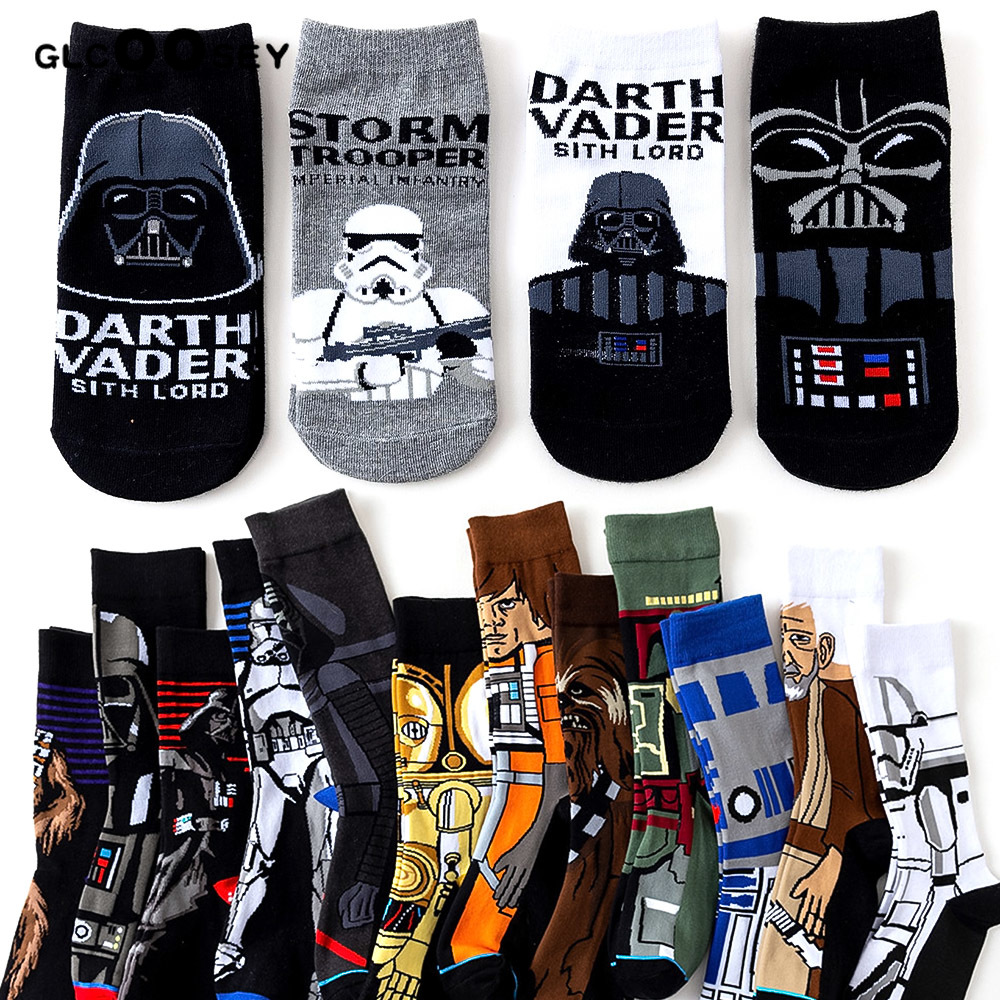 High Quality New Arrival Star Wars Patterns Cotton Casual Socks Men's Brand Casual Socks Free Shipping