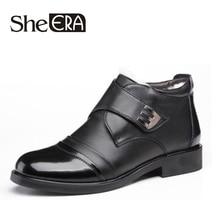 2018 Newly Winter Shoes for Men Quality Split Leather Shoes Zapatos de hombre Size 38-46 Warm Plush Man Shoes for Winter