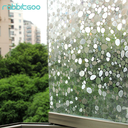 3d no glue static cling glass film decorative decal stickers pebble privacy window film pvc 1 5