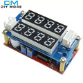 F85 Бесплатная Доставка 5А Регулируемая Мощность CC/CV Шаг вниз Зарядки Модуль СВЕТОДИОДНЫЙ Драйвер Вольтметр Амперметр