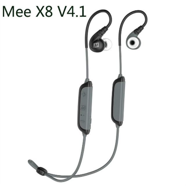 MEE Audio X8 Secure-Fit Stereo Bluetooth Wireless Sports In-Ear Monitor Waterproof Noise-isolating HiFi Earphone With Microphone