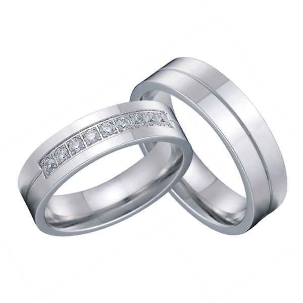 2 Pieces Clic His And Hers European Western Silver Color Anium Steel Wedding Band Ring Set For S In Bands From Jewelry