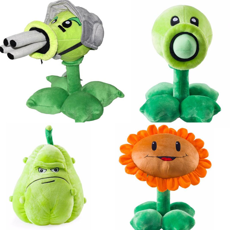 US $9 49 5% OFF|30cm Plants vs Zombies Plush Toy Pea Shooter Plants  vs Zombies 2 Gatling Peashooter Sunflower Squash Soft Stuffed Doll-in  Stuffed &