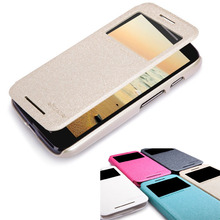 Original NILLKIN Sparkle Flip Leather with Smart View Window Back Cover Phone Case For Mot