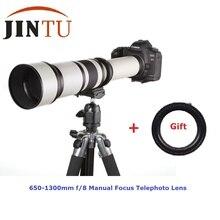 JINTU 650-1300mm f/Eight-16 Skilled Lengthy Vary Telephoto Zoom Lens for Canon T1I XT XTI XS XSI 6D 60D 70D 5D III 7D 450D 650D