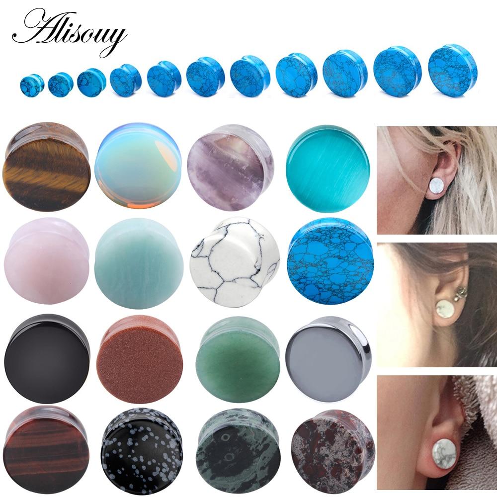 Alisouy Piercing Expander Earrings Jewelry Gauges Ear-Plug Ear-Stretcher Flesh-Tunnel