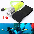 Hot 2000LM CREE T6 LED Waterproof underwater scuba Diver Diving Flashlight Dive Torch light lamp for 18650 Battery