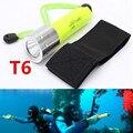 Hot 2000LM CREE T6 LEVOU À Prova D' Água underwater scuba Diver Mergulho Lanterna Mergulho Tocha lâmpada luz para 18650 Bateria