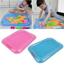 Children's Polymer Clay Playdough Sand Toy Kit Baby Kids Ability Traning Educational Play Inflatable Beach Sandbox High Quality(China)