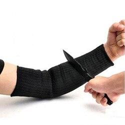 1 par Braço Manga À Prova de Corte de Fio de Aço Guarda Bracer Anti Abrasão Protetor Anti-Corte Braçadeira Braços Trabalhar Trabalho ferramenta de proteção