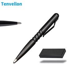 Tenvellon Self Defense Supplies Tactical Pen Pen Box Black Color Tungsten Steel Pen tip Personal Security Protection Defense