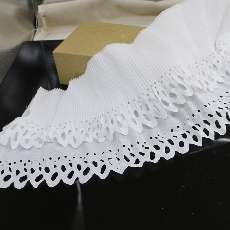 5 yards of /16cm high quality lace accessories fabric thick white elastic DIY beautiful garment