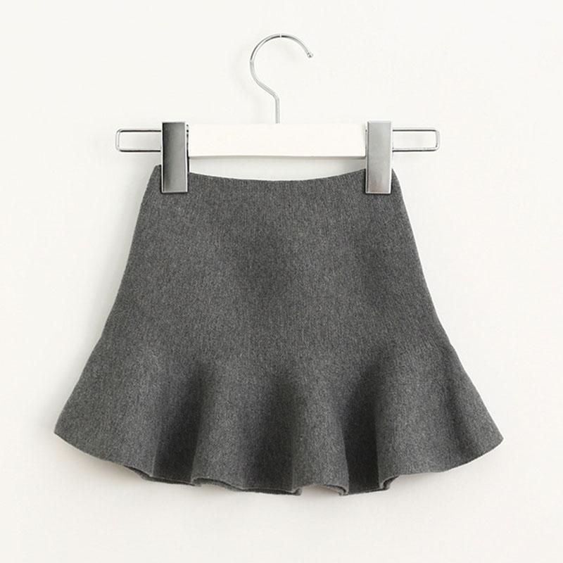 Wool knit solid short skirt girls half skirt 2017 new Korean children\'s clothing children\'s skirt (19)