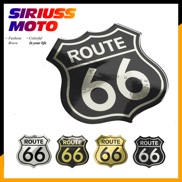3d motorcycle decal sticker the historic route 66 car stickers case for harley indian vod big