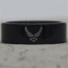 ЮГК ЮВЕЛИРНЫЕ ИЗДЕЛИЯ 8 ММ Черный Труба Comfort Fit ВВС США Дизайн Tungsten Обручальное Кольцо