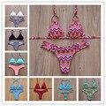 2016 Sexy Biquíni Fio Dental Mais Novo Acolchoado Bikini Set Push Up Swimwear Mulheres Do Vintage Retro Swimsuit Swimwear Brasileiro Maillot De Bain