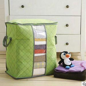 Image 3 - ポータブル衣類収納袋オーガナイザー不織布折りたたみクローゼットオーガナイザー衣料枕キルトブランケット寝具おもちゃ