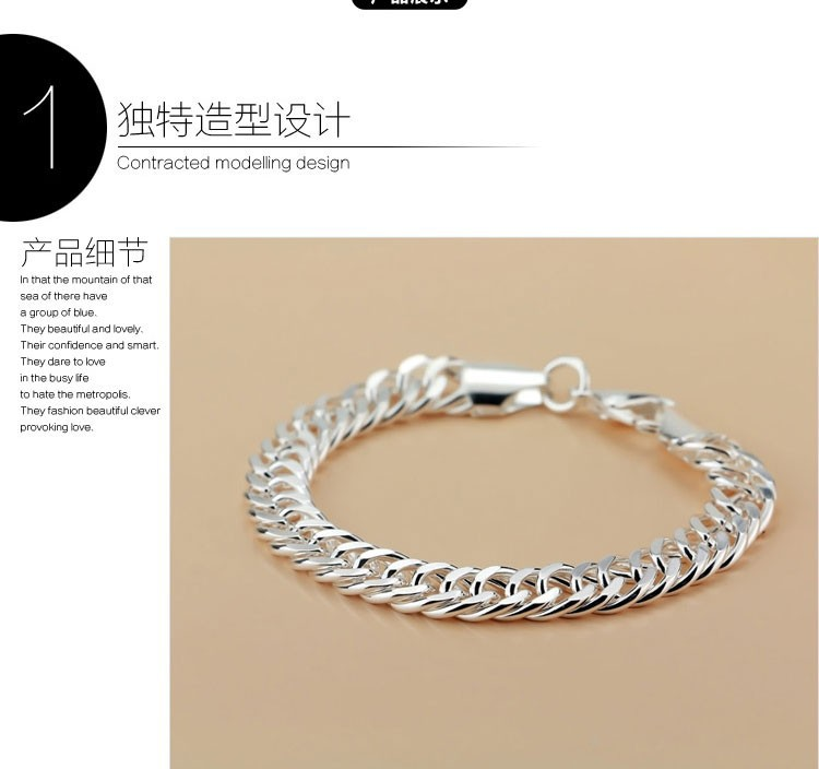 4cc137ddfaf03d 925 solid silver jewelry 925 sterling silver men's link chain thick genuine pure  silver bracelet men