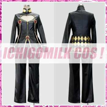 JoJo's Bizarre Adventure Golden Wind Giorno Giovanna Cosplay Costume Halloween Uniform Outfit Top+Pants Custom-made - DISCOUNT ITEM  0% OFF All Category