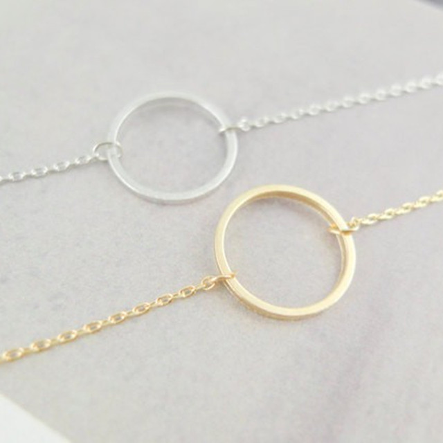 Online shop simple circle pendants necklace eternity necklace simple circle pendants necklace eternity necklace infinity silver gold minimalist jewelry necklace dainty circle gift aloadofball Gallery