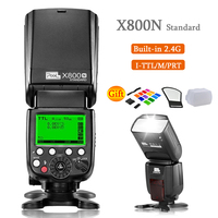 Pixel X800N Standard Wireless TTL 1/8000S HSS Camera Flash Speedlite Light for NikonD7100 D7000 D5100 D5000 D3200 D600 DSLR Came