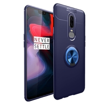 Metal Finger Ring Stand Phone Case Cover With Magnetic Adsorption 360 Rotation Holder for OnePlus 6/7