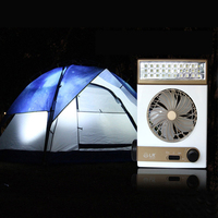 Multifunctional Outdoor Solar Fan 1100mah Summer Cooling Fan EU US Plug For Home Office Outdoor Camping 100V 240V