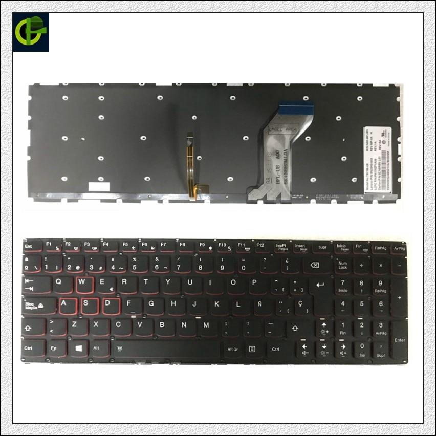 Spanish Backlit Original New Keyboard for Lenovo Ideapad Y700 Y700 15 Y700 15ISK Y700 15ACZ SN20H54489