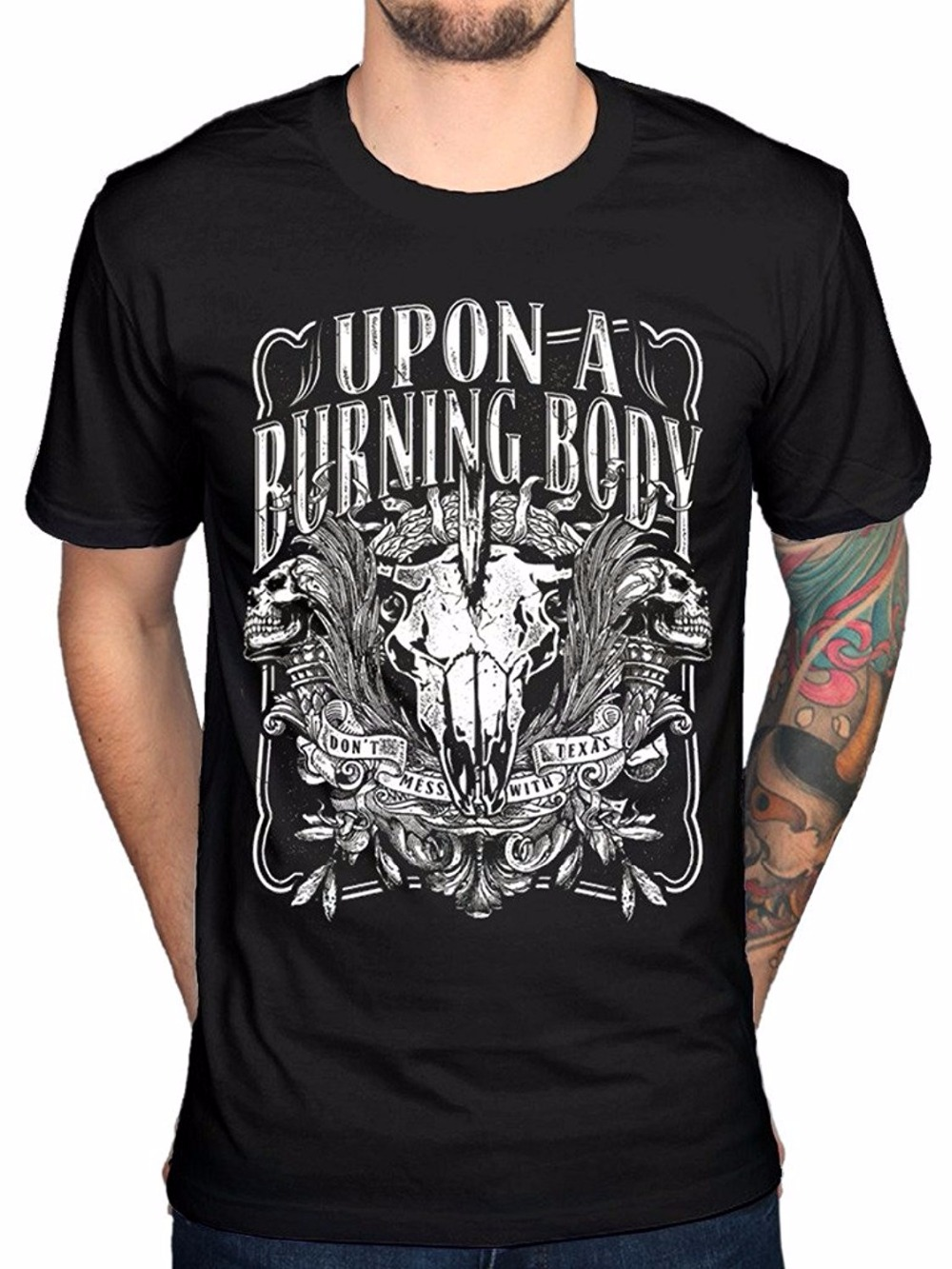 Fashion Upon A Burning Body Texas T-Shirt World Is Ours World Is My Enemy Now Mens Fitness T-Shirt