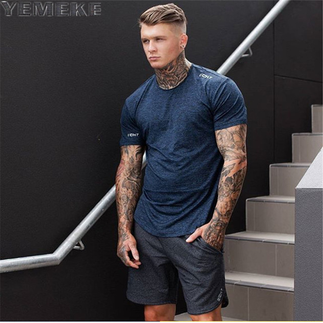 Yemeke Brand Mens T Shirt 2017 Summer Fashion O Neck Short Sleeved Tees Male