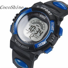 CocoShine A-733  Mens Stainless Steel LED Digital Date Alarm Waterproof Sports Army Quartz Watch wholesale